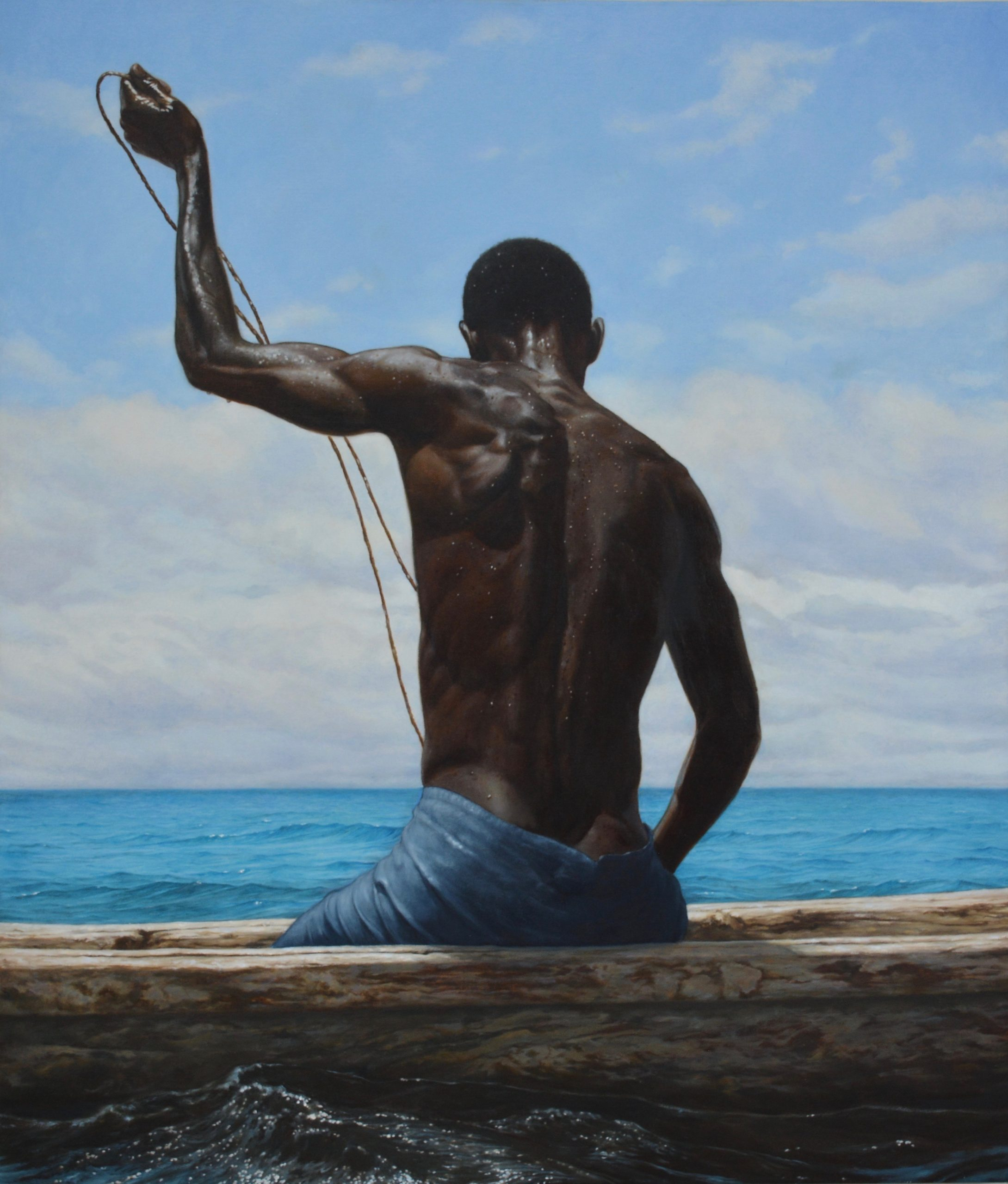 Painting of Diani Fisherman by Evan Church