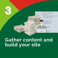 Step 3 - Gather Content and Build Website