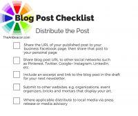 Blog Checklist - Distribution