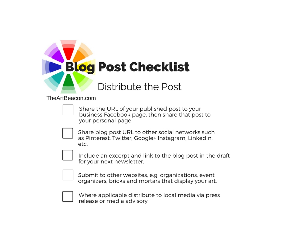 Blog Post Checklist – Distributing