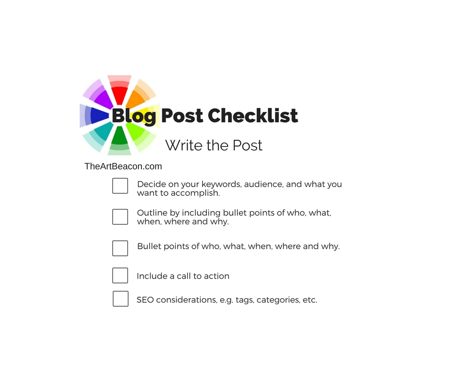 Blog Checklist - Writing FB