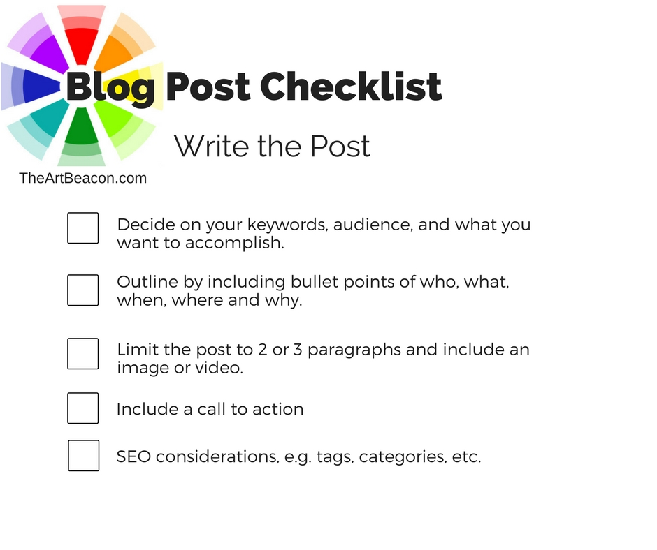 Checklist Blog Writing
